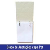 bloco de anotacoes capa pet sublimacao interior
