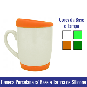 caneca base e tampa silicone sublimação