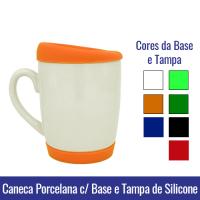 caneca base e tampa de silicone sublimação