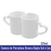 Caneca de Porcelana 325ML BRANCA/DUPLA SOL E LUA - ref. 92350