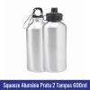 Squeeze Aluminio Prata 2 tampas sublimacao