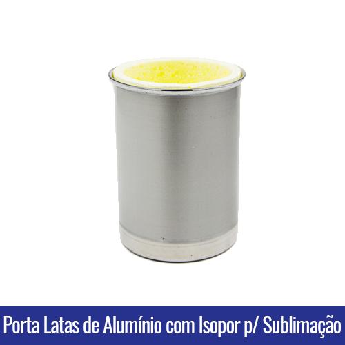 porta latas de aluminio com isopor sublimação