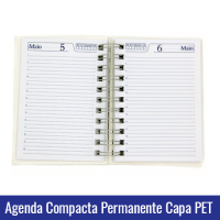 agenda compacta permanente pet sublimacao