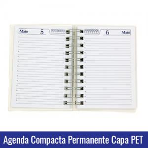 agenda compacta pet branca sublimação