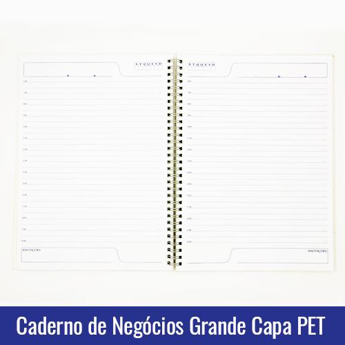 caderno de negocios grande agenda capa pet sublimação