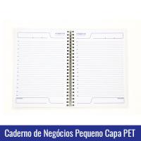 caderno de negocios pequeno capa pet sublimacao
