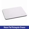 mouse pad branco sublimação retangular