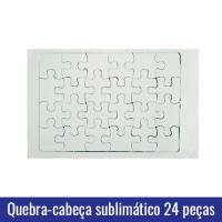 Quebra cabeça 24 peças sublimação