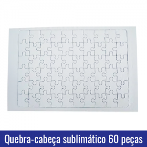 quebra cabeça 60 peças sublimatico