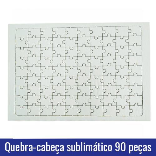 quebra cabeça 90 peças sublimação