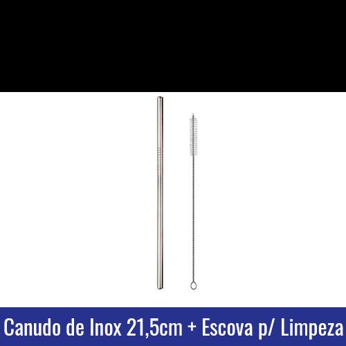 canudo inox ecologico com escovinha escova