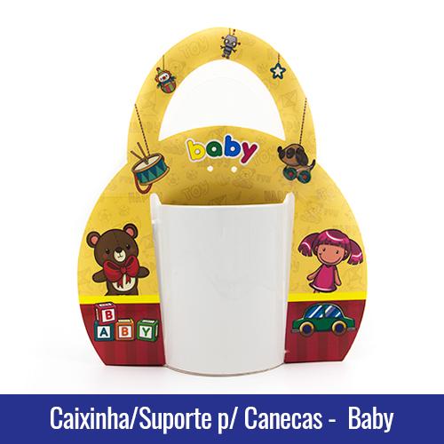 Caixinha suporte com alca para canecas baby