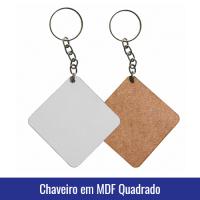 chaveiro mdf quadrado sublimação