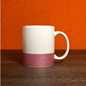caneca base glitter rosa