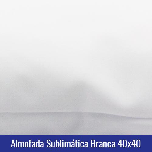 Almofada sublimatica branca 40x40