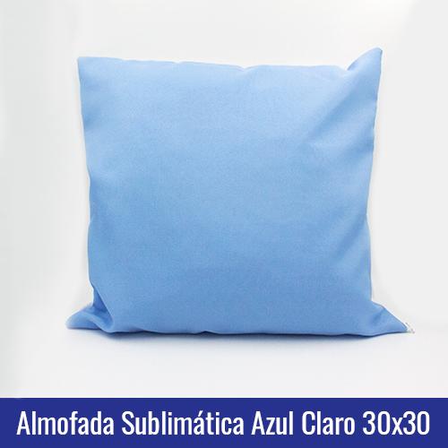 almofada azul sublimação