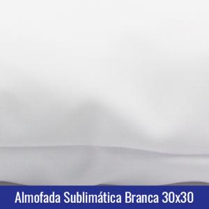 almofada branca sublimação