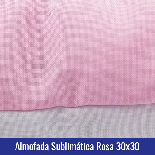 almofada rosa sublimação