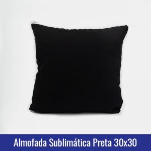 almofada preta sublimação