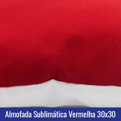 almofada vermelha sublimação
