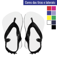 Chinelo baby para sublimacao cores