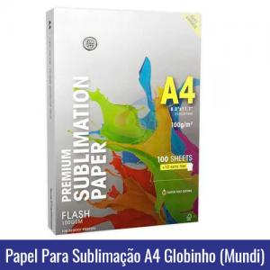 papel globinho mundi a4 sublimacao
