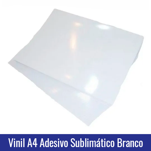vinil adesivo sublimatico a4 branco