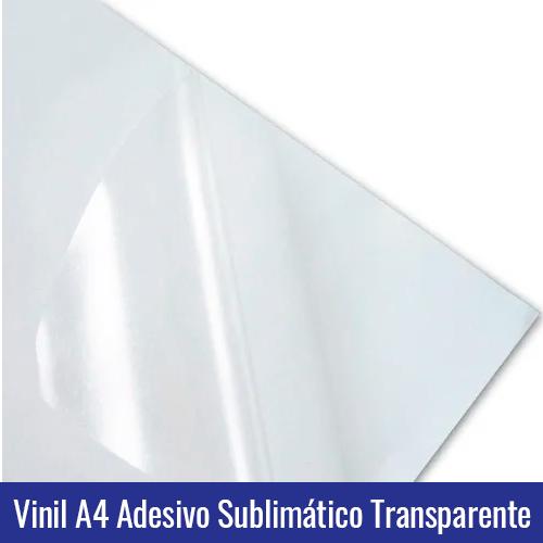 Vinil A4 Adesivo Sublimático Transparente