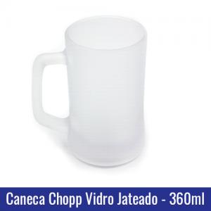 caneca chopp vidro jateado sublimação 360ml