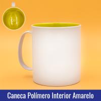 caneca polimero INTERIOR AMARELO