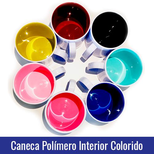 CANECA POLIMERO PLASTICO INTERIOR COLORIDO PARA SUBLIMAÇÃO