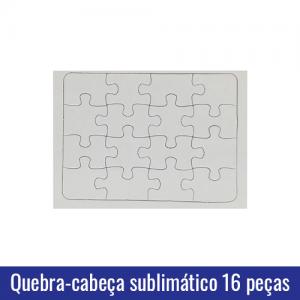 quebra cabeça 16 peças sublimatico