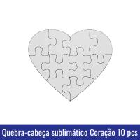 QUEBRA CABEÇA CORAÇÃO 10 PEÇAS SUBLIMAÇÃO A5
