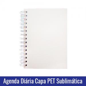 agenda diaria capa pet sublimatica