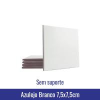 azulejo 7,5 x 7,5cm para sublimação branco