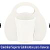 CAIXINHA SUPORTE com alça sublimatico branco para canecas