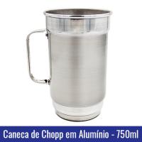 caneca chopp em aluminio brilhante 750ml sublimação