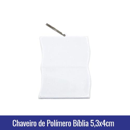 Chaveiro de Polímero c/argola formato BÍBLIA para Sublimação - Ref. 94500
