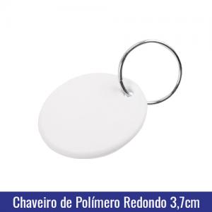 Chaveiro de Polímero c/argola formato REDONDO para Sublimação - Ref. 94507