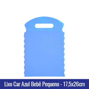 Lixo car TNT Azul Bebê Pequeno 17,5x26cm - Ref 1026