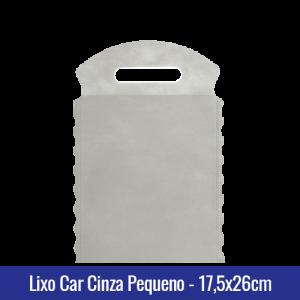 Lixo car TNT Cinza Pequeno 17,5x26cm - Ref 1026