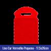 Lixo car TNT Vermelho Pequeno 17,5x26cm - Ref 1026
