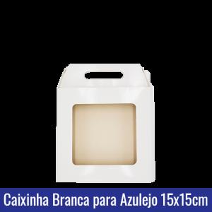 Caixinha BRANCA para AZULEJO 15x15 SUBLIMÁVEL - ref. 93032