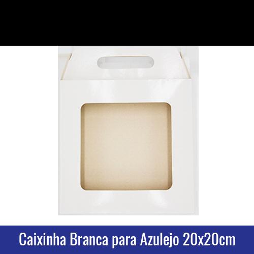 Caixinha BRANCA para AZULEJO 20x20CM SUBLIMÁVEL - ref. 93033