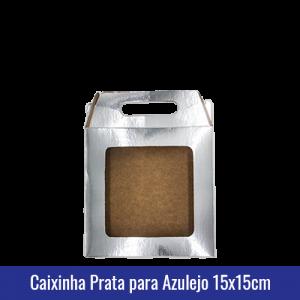 Caixinha prata para AZULEJO 15x15cm SUBLIMÁVEL - ref. 93034
