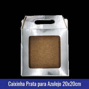 Caixinha PRATA para AZULEJO 20x20CM SUBLIMÁVEL - ref. 93035