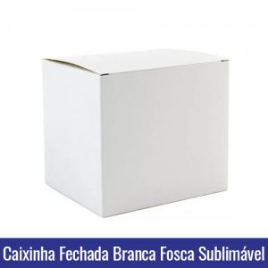 Caixinha FECHADA BRANCA FOSCA de PAPEL DUPLEX 250g para Canecas 11oz SUBLIMÁVEL - Ref. 93008