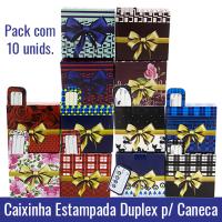 Pack c/ 10 Caixinhas Estampadas em Duplex 250g para Canecas 11oz