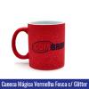 Caneca de Porcelana 325ML Mágica Vermelha Fosca COM GLITTER - Ref. 92191