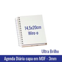 Agenda capa mdf ultra brilho sublimatica sublimacao